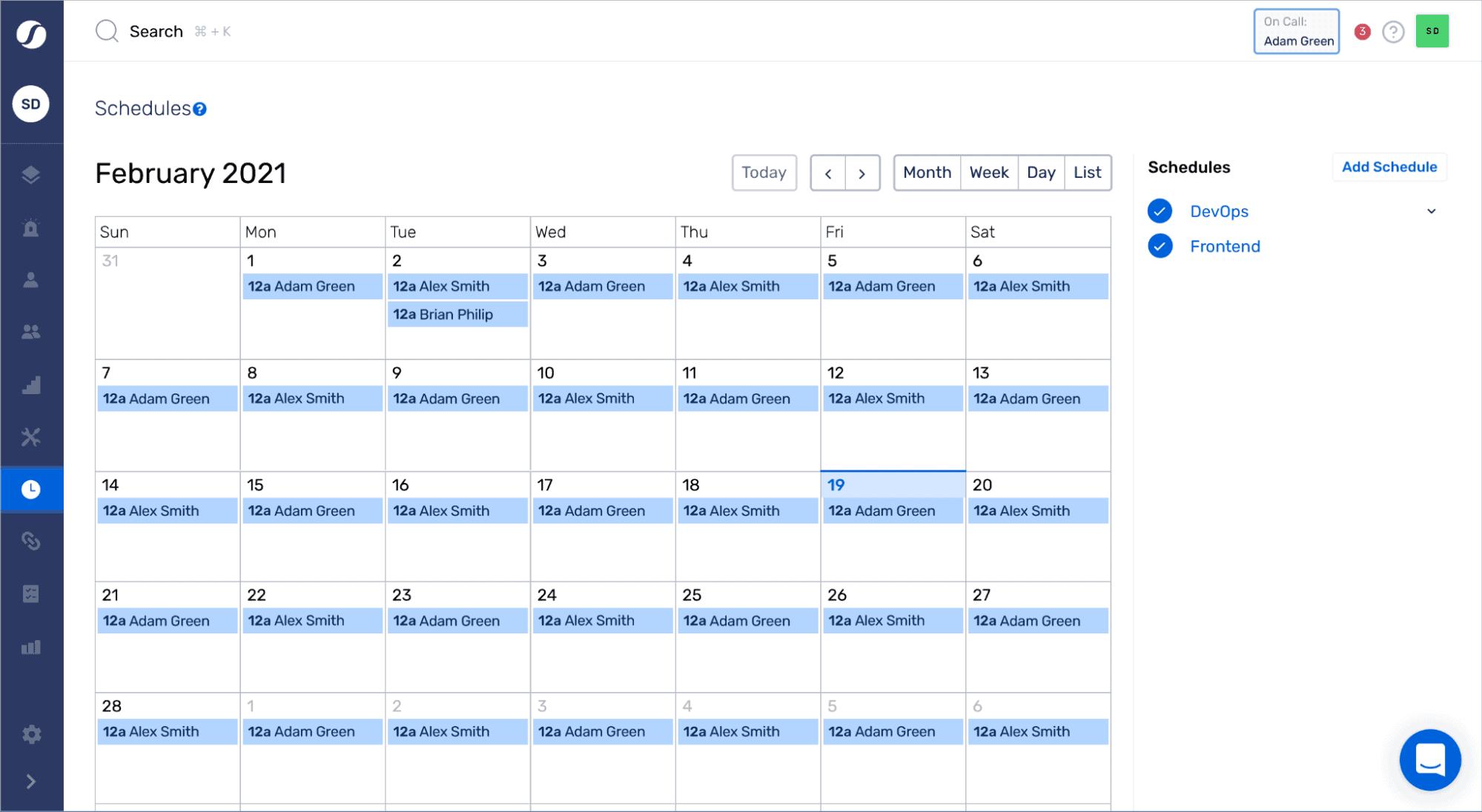 squadcast calendar